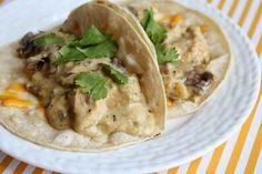 Recipe:  Chicken, Recipe:  Main Dish, Recipe:  Mexican, Pollo Durango Tacos, chicken mushroom cilantro tacos