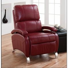 Oracle II Recliner Our new red leather, recliner. Had to get something stylish for hubby.