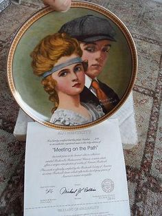Norman Rockwell Plate; Meeting on the Path #519 10th Rediscovered Women