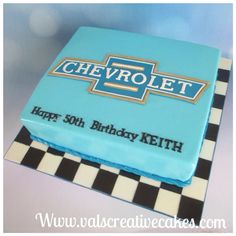 Cake for a Chevrolet lover Hubby Birthday, 16 Birthday Cake, Happy 50th Birthday, Truck Cakes, Car Cakes, Chocolate Turtles, Dream Cake, Cakes For Men, Cake Gallery