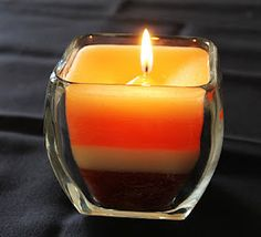 There are always left over candles lying around with too little to burn.  What an easy way to re-purpose them and make your own scent!
