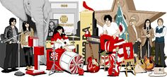 Jack White The White Stripes The Raconteurs The Dead Weather Third Man Records = Everything I Love