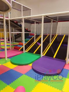Soft Toddler Play Area for younger children. At iPlayCO, we welcome the opportunity to build new relationships and introduce our clients to the amazing industry of children's play equipment and playground structures. Toddler Play Area, Toddler Playground, Outdoor Playground, Kids Play Equipment, Playground Design, Indoor Play, Play Spaces, School Design, Kids Playing