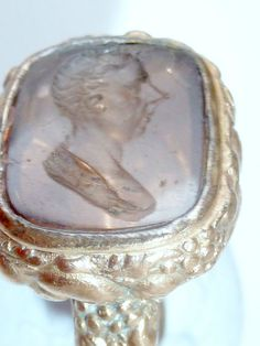 SEAL FOB PITT THE YOUNGER POLITICIAN PRIME MINISTER ANTIQUE VICTORIAN INTAGLIO