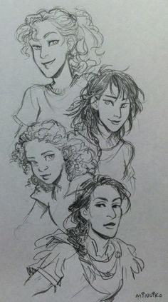 The girls from the heroes of Olympus series