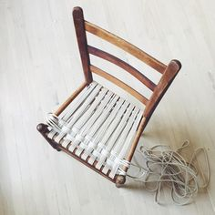chair weaving progress