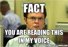 Yup. Dwight. The Office.                                                                                                                                                                                 More