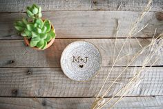 This ring dish is customized, adorable and also made from recycled products!