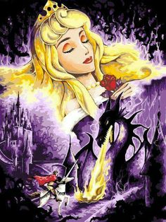 Beautiful art of the cherished Walt Disney Classic, Sleeping Beauty