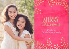 Snapfish Holiday Photo Cards:  Gold Branches Merry Christmas By Amy Sheridan