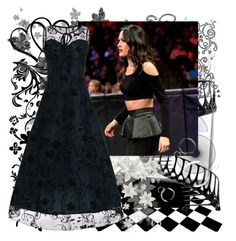 """""""Brie Bella Bold Look"""" by farrahdyna ❤ liked on Polyvore featuring Post-It and WWE"""