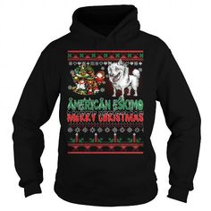 Awesome American Eskimo Dogs Lovers Tee Shirts Gift for you or your family your friend:  American Eskimo Ugly Christmas Sweater American Eskimo,American Eskimo Christmas Day,American Eskimo Black Friday,American Eskimo Christmas Eve,American Eskimo Noel Tee Shirts T-Shirts