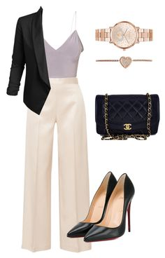 """Untitled #10"" by mv2722 on Polyvore featuring The Row, Jupe de Abby, Christian Louboutin, Chanel and Michael Kors"