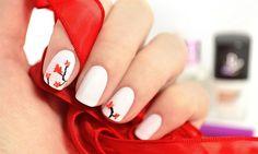 Cherry blossoms spring nail art | Cherry blossom nail spa | Cherry blossom floral design