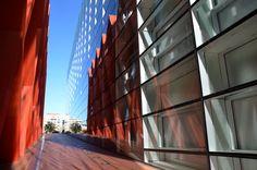 Fachada Modular para el CENIEH Centro Nacional Investigación de la Evolución Humana dentro del complejo Evolución Humana en la ciudad de Burgos