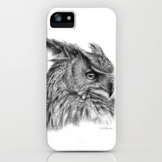 Eagle Owl G085 iPhone & iPod Case by S-Schukina - $35.00