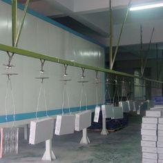 Aluminium Profile Overhead Conveyor Powder Coating Line with Powder Coating Oven
