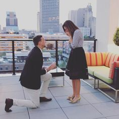 This rooftop proposal is flawless in every way.