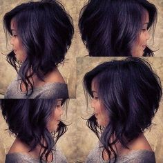 New Cute Bobo Hair For Black Women Black and Short Wave Synthetic Perruque Wigs Messy Bob Hairstyles, Long Bob Haircuts, Long Bob Haircut With Layers, Medium Hair Cuts, Medium Hair Styles, Curly Hair Styles, Hair Cutting Techniques, Short Waves, Haircut And Color