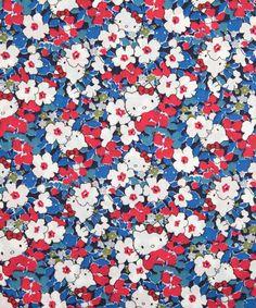 Blue Karenkubo Hello Kitty Print, Liberty Art Fabrics  Size 1m x 1.37m   Price £21.00