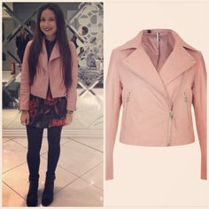 Do it like Lauren, our Topshop Personal Shopper and update your leather with this pastel pink biker!