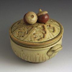 Acorn Teapot by baumanstoneware on Etsy