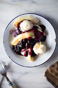 Blueberry Crepes with Vanilla Ice Cream | Flourishing Foodie