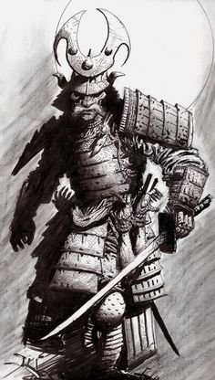 Samurai Is Life - Saint Fields Samurai Tattoo, Samurai Drawing, Samurai Artwork, Shogun Tattoo, Tatoo Art, Sketch Tattoo, Tattoos, Demon Tattoo, Japanese Art