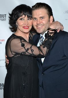 Chita Rivera gets close with Robert Creighton after the two were voted the opening night set of lovers.(© David Gordon)