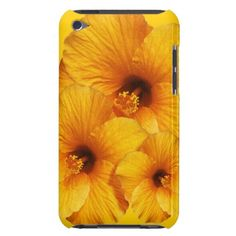 Orange Hibiscus Flower iPod Touch case