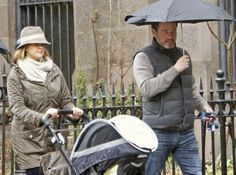 31 March 2014 Princess Madeleine and her husband Chris O'Neill have been seen in New York with their daughter Leonore.
