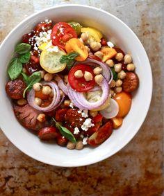 Heirloom Tomato & Chorizo Salad | 27 Delicious Ways To Use Tomatoes