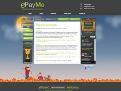 ePayMe website with it's new autumn theme :)