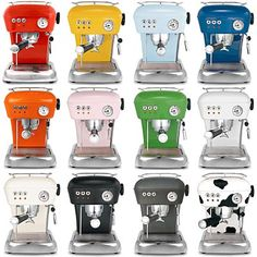 Coffee makers – choose your color. @Mica Ferrer