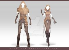 (OPEN) Adoptable Outfit Auction 187 - 188 by Risoluce.deviantart.com on @DeviantArt