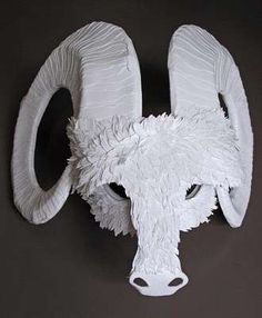 Paper Animal Mask Sculptures - Paper Cut Project's Awesome Animalia Paper Art Collection (GALLERY)