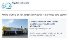 Nuevo anuncio en Coches > Servicios para coches http://www.alquilarenespaña.es/es/alquilar/coche/servicios-para-coches/