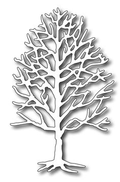 Frantic Stamper Precision Die - Medium Bare Ash-Our Medium Bare Ash tree has so many uses. Use it in winter scenes, halloween scenes, or add tiny flowers for a spring tree too! This tree measures wide x tall Tree Stencil, Stencils, Forsythia Bush, Paper Cutting Patterns, Elm Tree, Diy And Crafts, Arts And Crafts, Frantic Stamper, Halloween Scene