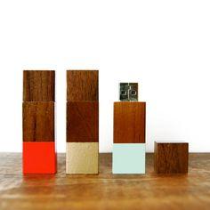 Wood Flash Drive Geometric 2GB USB Drive in by sonofasailorSUPPLY, $34.00