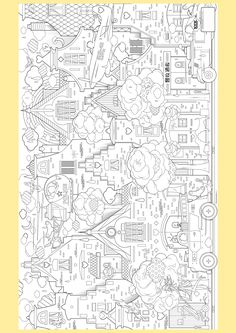 Supersized Colouring Picture: In the City