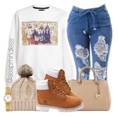 Untitled #92 by asapmindless on Polyvore featuring polyvore, fashion, style, Untitled & Co, Timberland, MICHAEL Michael Kors and Oasis