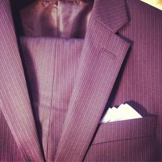 Our very popular navy with light blue and blue pinstripe #classic #suitoftheday