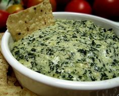 The Naughtiest, Most Delicious Spinach-Artichoke Dip from Food.com: DELICIOUS. The key is the alfredo sauce, which I haven't seen in other spinach artichoke dips - it makes all the difference!