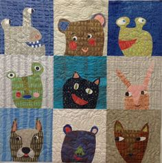 Giggle and Squeak quilt pattern by Such Designs, spotted at Fiberworks (Montana)