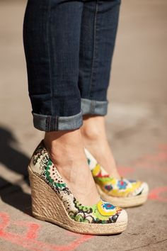 Printed Espadrilles -awesome.