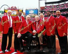 True Legends - Cardinals Hall of Famers.  Bruce Suter, Bob Gibson, Red Schoendist, Stan Musial, Whitey Herzog, Lou Brock, Ozzie Smith