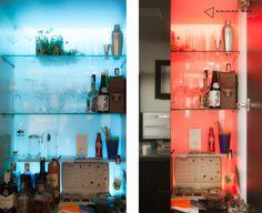 la cocina de Pablo y Esther - armario LAB #cocina #kitchen #diseño #design #madera #wood #blanco #white #negro #black #iluminacion #lighting