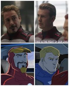 Avengers Cartoon, Marvel Funny, Marvel Memes, Marvel Dc Comics, Marvel Avengers, Fandom Jokes, Captain American, Superhero Memes, Steve And Tony