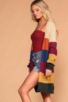 3d7a9d7030 Myra Stripe Sweater Cardigan. Shop Priceless. Striped Cardigan