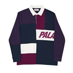 b4442427c8f2 PALACE RUGBY SHIRT PATCHWORK NAVY PURPLE MYSTERIO